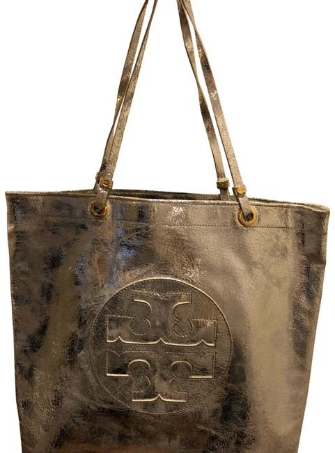 Item - Embossed Silver Leather Tote