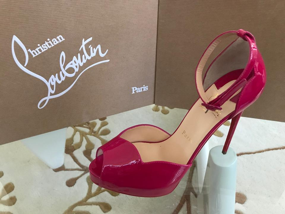11864e3f18f Christian Louboutin Ultra Rose Aketata Patent Ankle-wrap Red Sole Pumps  Size EU 39 (Approx. US 9) Regular (M, B) 26% off retail