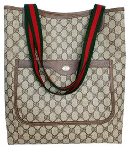 Gucci Supreme Web Shopper Sherry Marmont Tote in Brown
