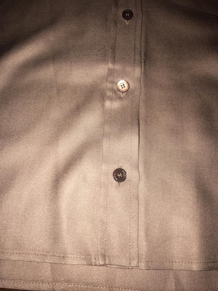 2d6f809abbc7ea Gucci Brown Tan Silk Perforated Ls Button Shirt 40 Italy Button-down ...