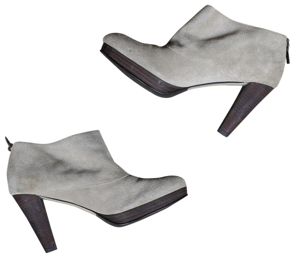 Cole Haan Taupe Ankle Suede Ankle Taupe Heeled Boots/Booties c41587