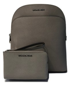 Michael Kors Brown Leather Wallet Matching Set Backpack