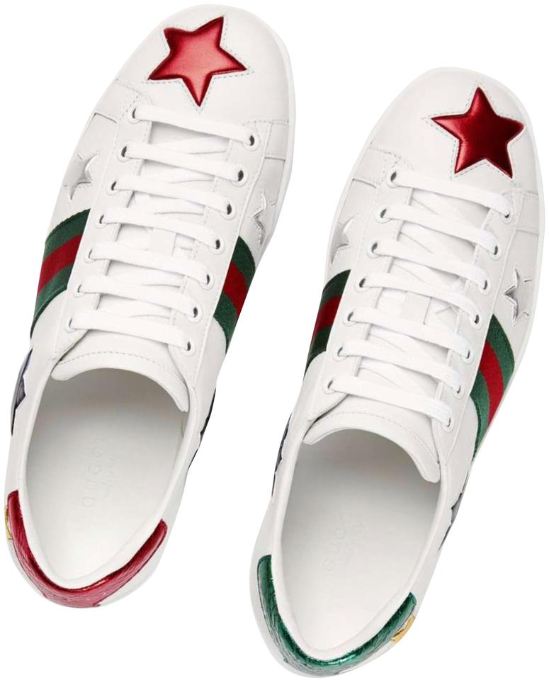 2c1aed1c2 Gucci Multicolor Ace Embroidered Stars Sneakers. Size: EU 39.5 (Approx. US  9.5) Regular ...