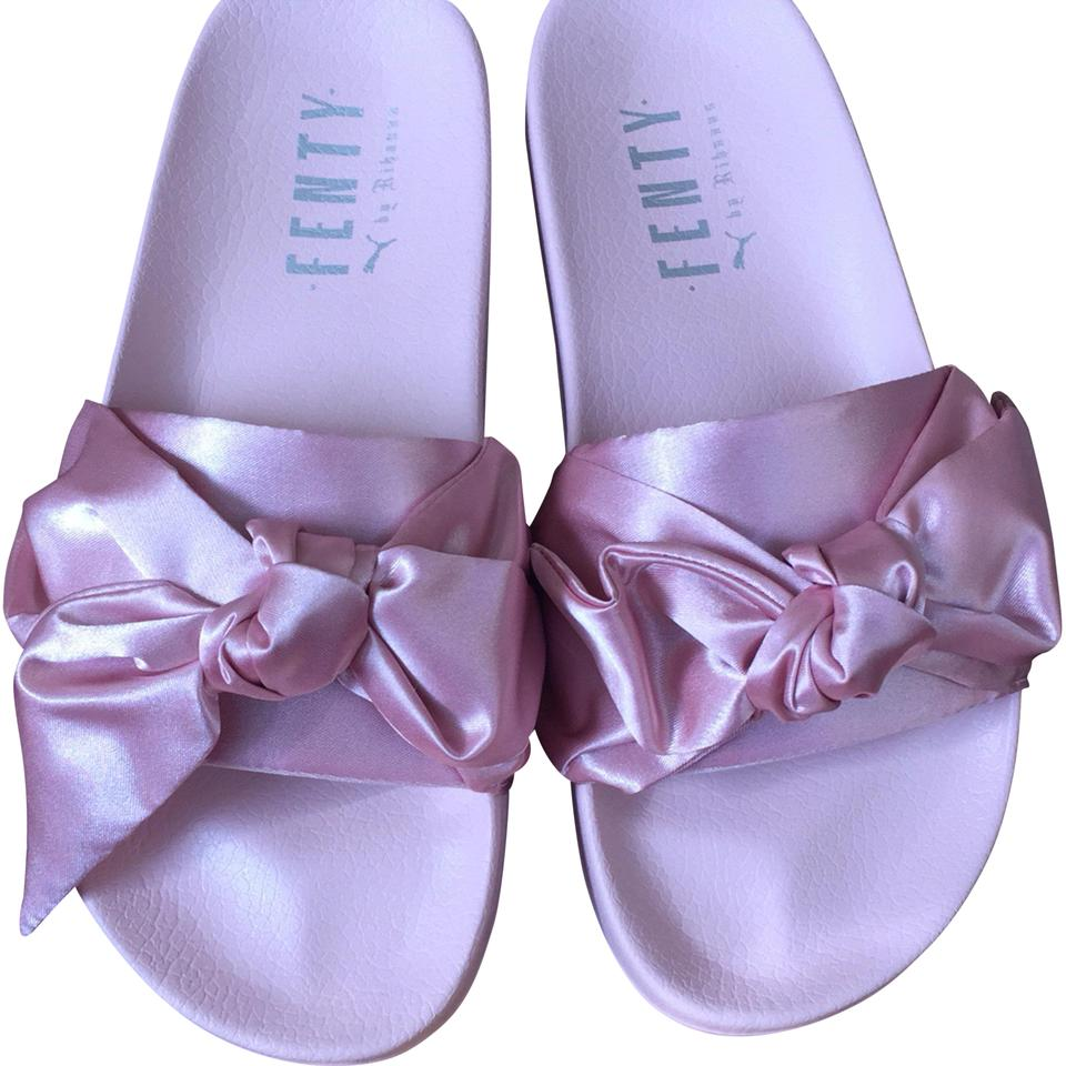 the best attitude 860cc 2c34f Pink Bow Slides Sandals