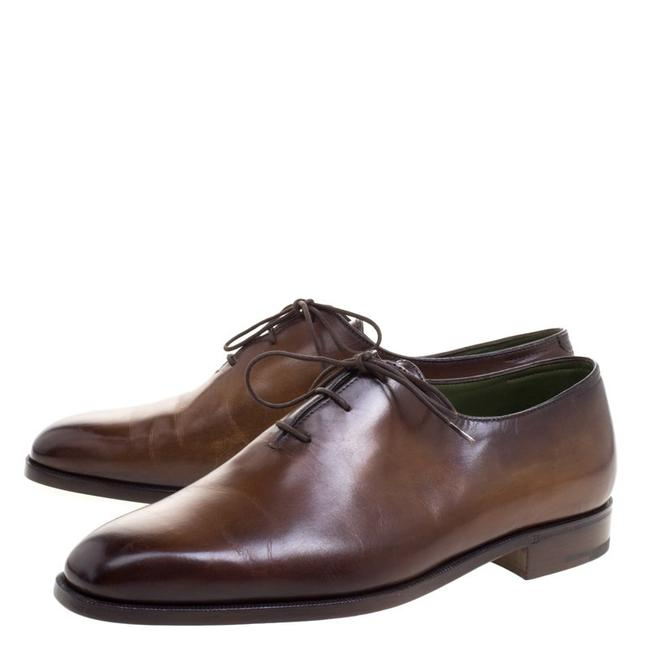 Item - Brown Leather Alessandro Lace Up Oxfords Formal Shoes Size EU 41 (Approx. US 11) Regular (M, B)