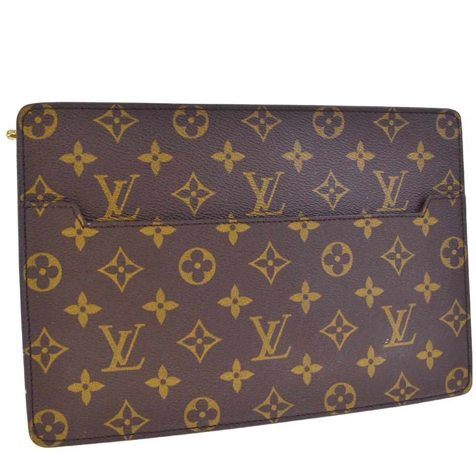 2f396c4db78f Louis Vuitton Pochette Homme Brown Monogram Leather Clutch - Tradesy