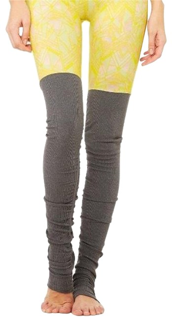 Item - Yellow Gray Goddess Ribbed Activewear Bottoms Size 8 (M)