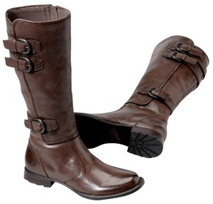 Børn Burnished Leather Midcalf Military Brown Boots