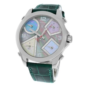 Jacob & Co. New Jacob & Co. Five 5 Time Zone 40mm Stainless Steel Diamond Dial