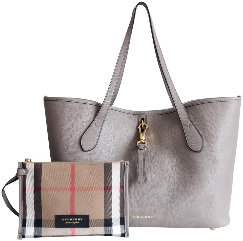 Burberry Honeybrook Derby Medium Thistle Grey Leather Tote - Tradesy 2c15680d2a3b0