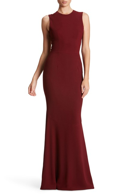 Item - Red Eve Crepe Mermaid Illusion Floor Length Gown Long Formal Dress Size 16 (XL, Plus 0x)
