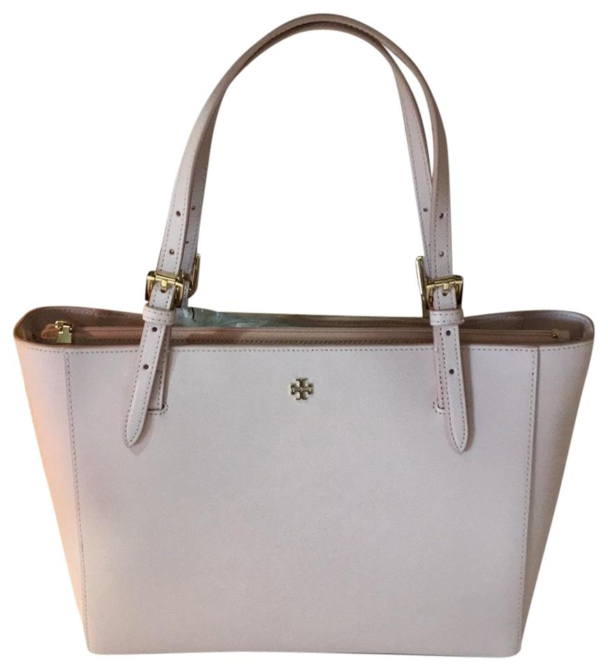 29259cbe514d Tory Burch Small Buckle York Light Oak Saffiano Leather Tote - Tradesy