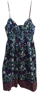 Banana Republic short dress Blue Floral on Tradesy