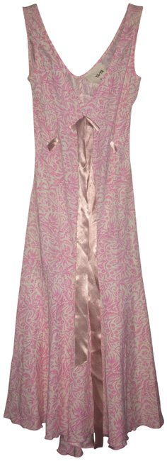 Item - White and Pink Slip Mid-length Casual Maxi Dress Size 00 (XXS)