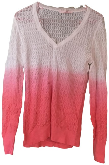 Item - Light Knit White/Salmon Ombre Sweater