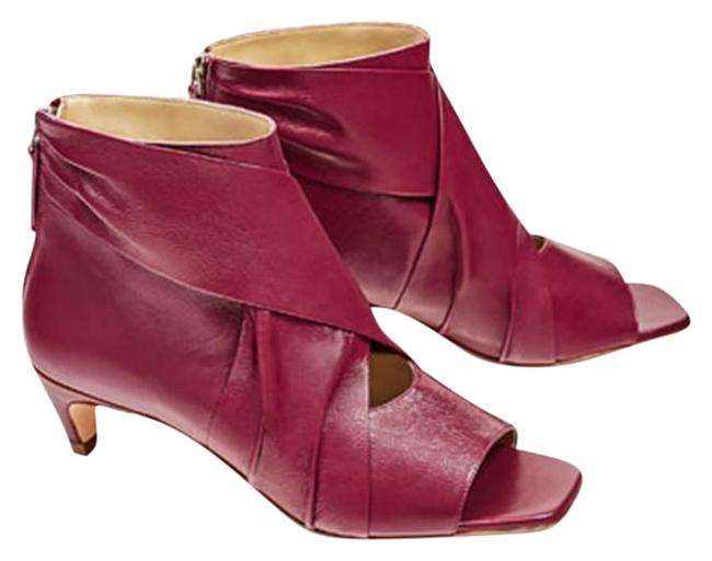 Item - Pink Strawberry Cow Leather Open Toe New Comfy Ankle Boots/Booties Size US 8 Regular (M, B)