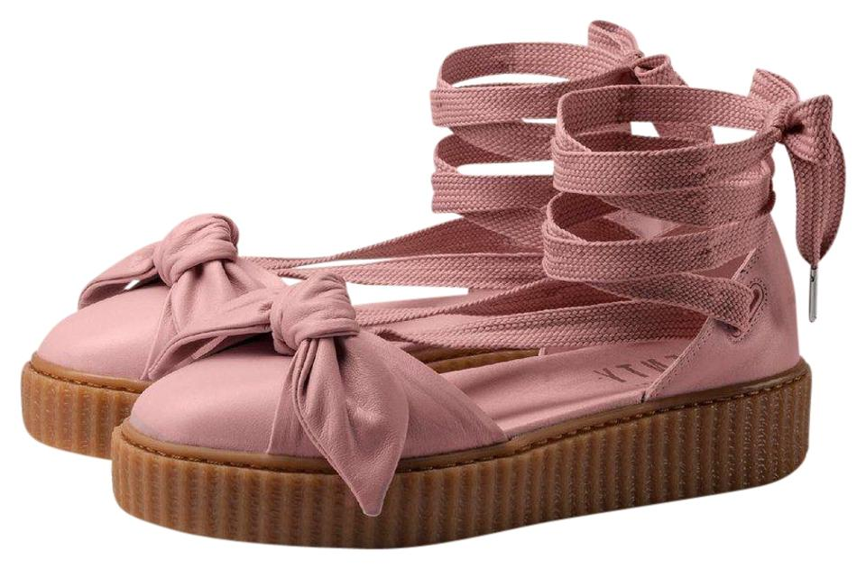 size 40 c7f84 cb619 Pink Bow Creeper Sandals