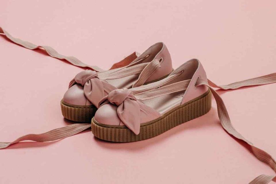 size 40 49594 63aa5 Pink Bow Creeper Sandals
