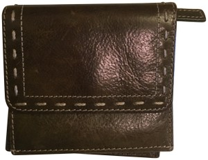 Fossil FOSSIL green leather tri fold wallet