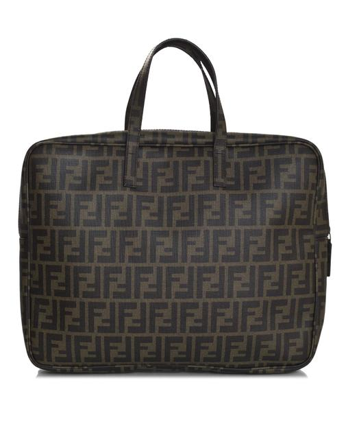 Item - Tote Zucca with Db Brown Coated Canvas Laptop Bag