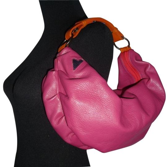 Preload https://item3.tradesy.com/images/t-bags-los-angeles-ruched-mini-crescent-magenta-leather-hobo-bag-2319647-0-3.jpg?width=440&height=440