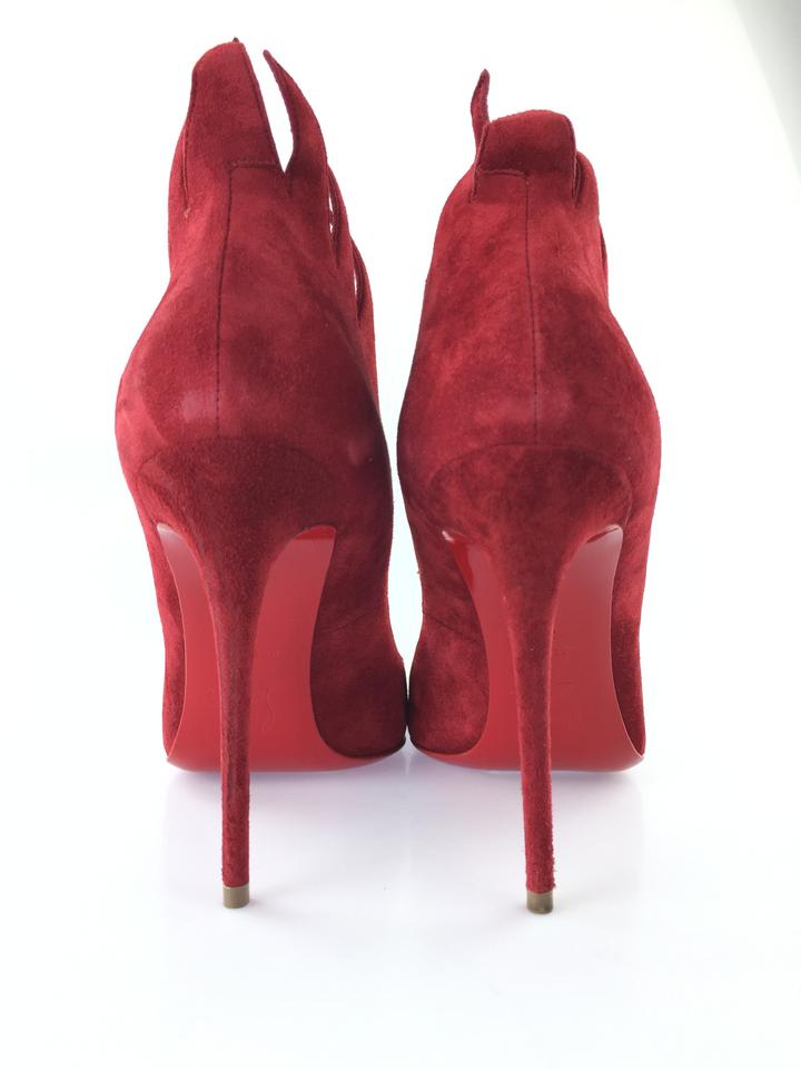 Red Victorina Louboutin 100 Pumps Veau Christian Velours Pw5q1