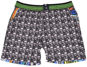 Robert Graham NEW Robert Graham Men's DEAD WASH Skull Print Swim Trunks Suit 32 S