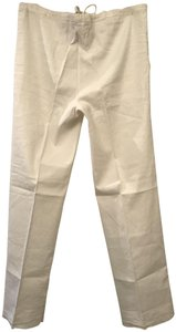 Piazza Sempione Linen Relaxed Pants White