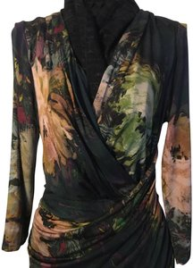 Elana Kattan Floral Artistic Versatile Draped Dress