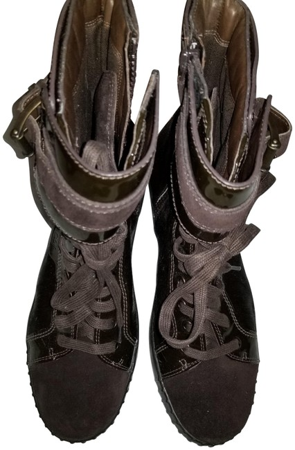 Item - Brown/ Suede / Patent Leather/ Pony Colehand Boots/Booties Size US 9 Regular (M, B)