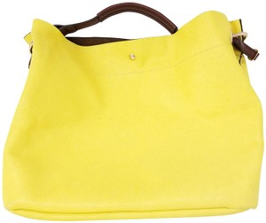 Wilsons Leather Tote in Yellow and Brown