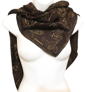 Chanel Chanel - Sheer Floral Printed Scarf - Brown