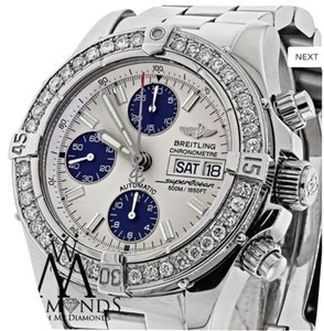 Breitling Diamond Breitling A13340 Super Ocean Stainless Steel Automatic Men's