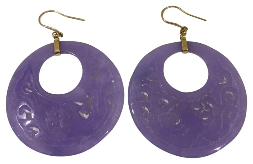 carved purple pin and lavender diamond jade at earrings jewelry