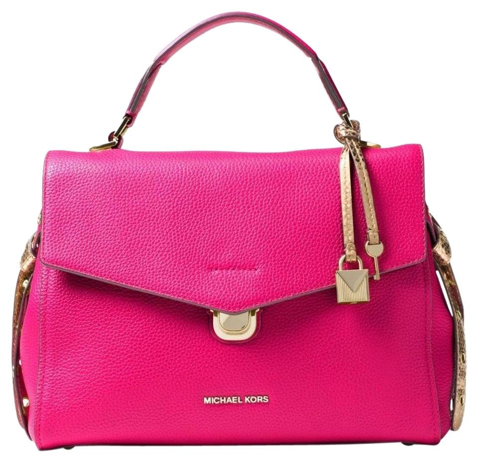 817fd753d41d7c Michael Kors Bristol Medium Pink Leather Satchel - Tradesy