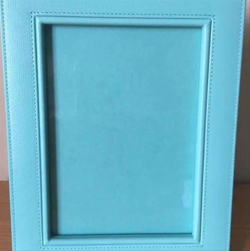 Tiffany & Co. Blue New Leather Embossed 5x7 Photo Frame - Tradesy