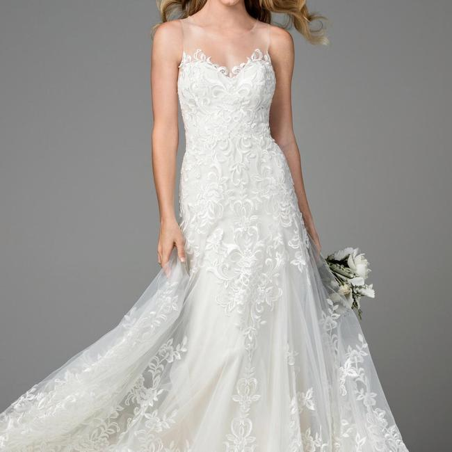 Item - Ivory / Oyster Lining Lace Dame 2074b Traditional Wedding Dress Size 8 (M)