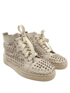 Christian Louboutin Red Bottoms Louis Orlato Sneakers Taupe Athletic