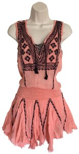 Free People short dress coral/Black on Tradesy