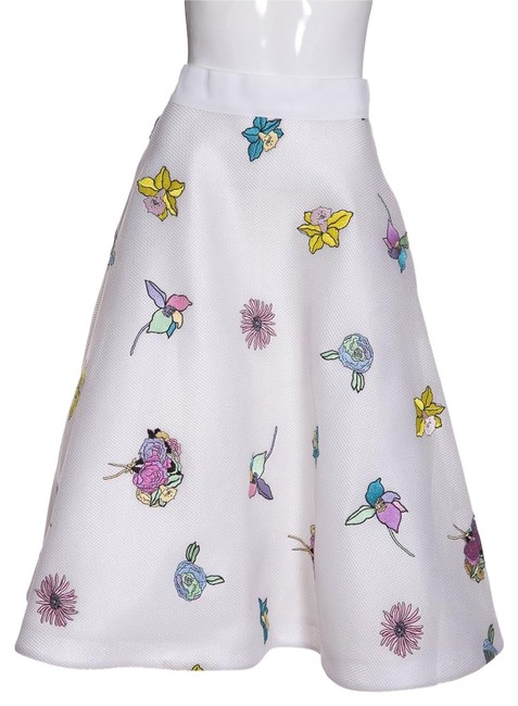 Thom Browne White Mesh & Floral Embroidery 42 Skirt Size 0 (XS, 25) Thom Browne White Mesh & Floral Embroidery 42 Skirt Size 0 (XS, 25) Image 1