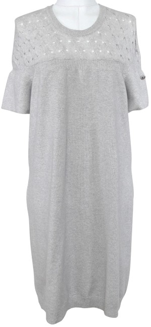 Preload https://img-static.tradesy.com/item/23197692/chanel-grey-knit-sweater-cashmere-sleeve-2013-pre-fall-46-mid-length-short-casual-dress-size-10-m-0-1-650-650.jpg