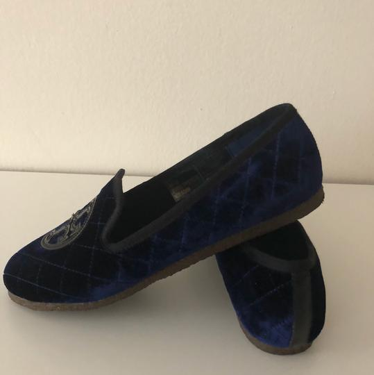 Tory Burch Navy Blue Flats Image 1