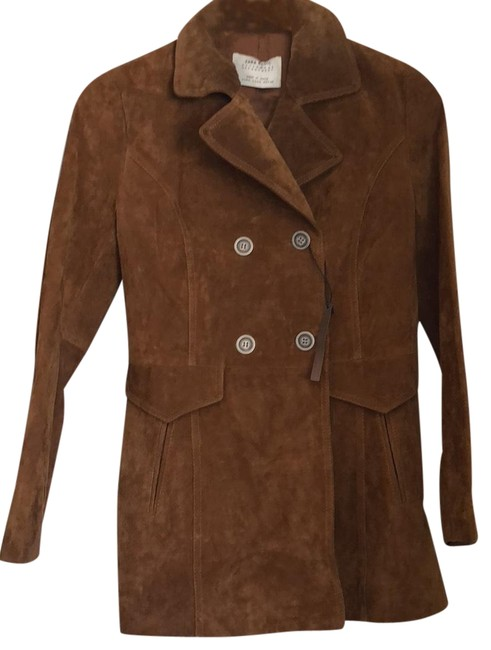 Item - Camel Double Breasted Suede Coat Never Worn Blazer Size 2 (XS)