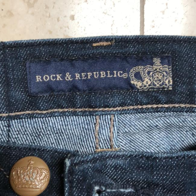 Rock & Republic Boot Cut Jeans-Dark Rinse Image 4