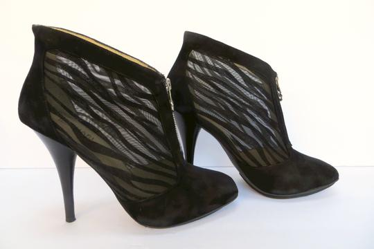 Michael Kors Suede Mesh Sexy Black Boots Image 1