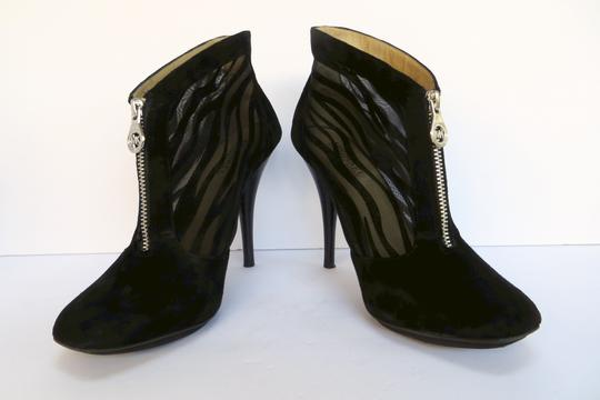Michael Kors Suede Mesh Sexy Black Boots Image 3