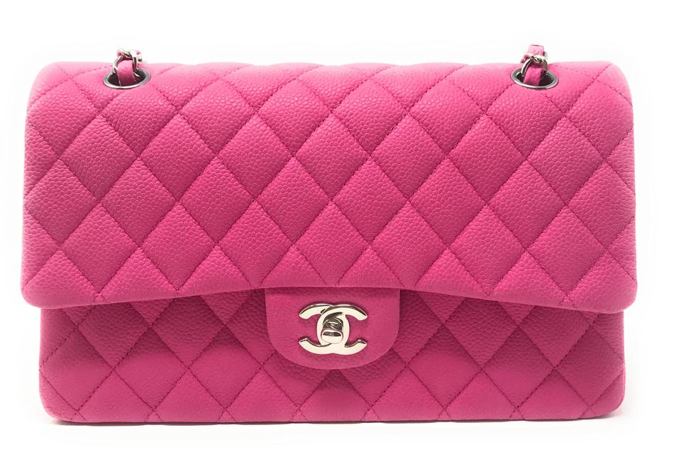 f67c785fce4 Chanel Quilted Hot Pink Caviar Leather Shoulder Bag - Tradesy