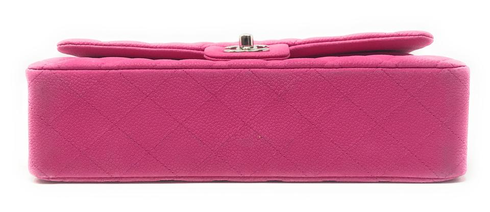 0bb1730386a0 Chanel Double Flap Quilted Hot Pink Caviar Leather Shoulder Bag ...