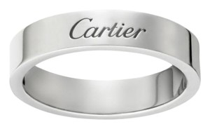 Cartier Cartier 4mm Engraved Wedding Band Platinum - Size 60