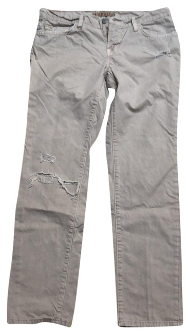 Item - Khaki Distressed Relaxed Fit Jeans Size 2 (XS, 26)